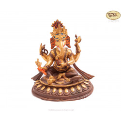 Statue Ganesh, Original vergoldetes Messing, 11cm hoch