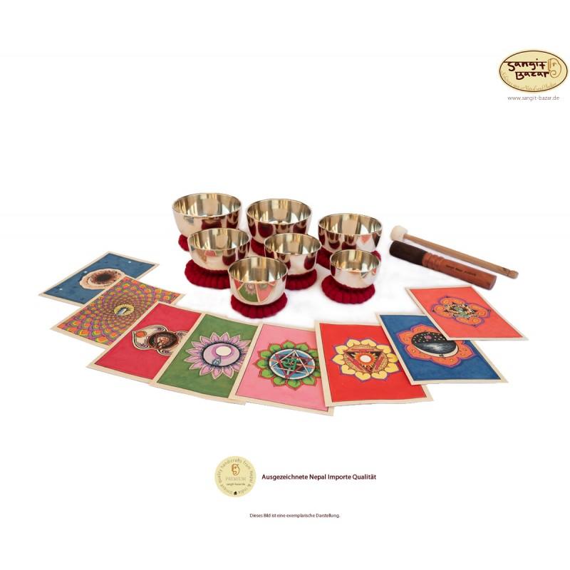 7 Klangschalen Zen Set plus Zubehör