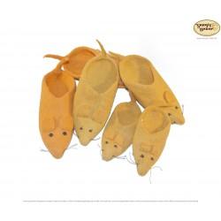 Mäuse-Filzpantoffel aus Nepal