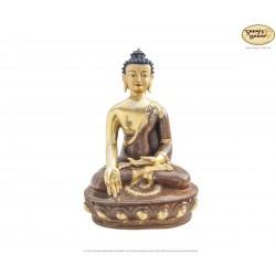 Original vergoldete Messing Statue Ratnasambhava 30cm
