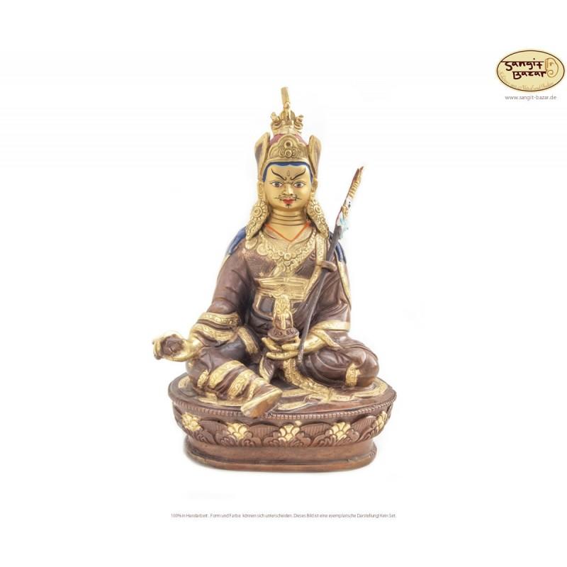 Original vergoldete Messing Statue Padmasambhava 21cm