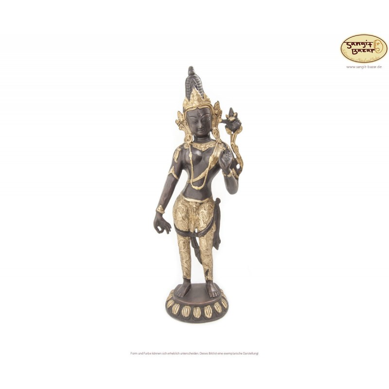 Original Messingstatue Padmapani Lokeshwor 41cm
