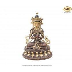 Original Messing Statue Vajrasatva vergoldet 51cm