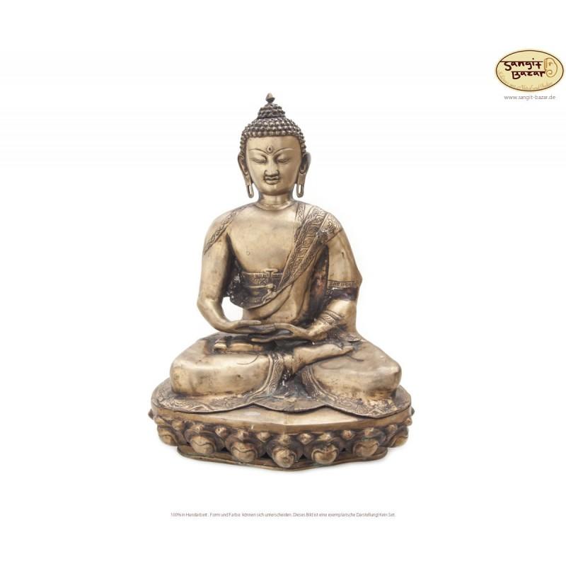 Original Messing Statue Amitabha 52cm