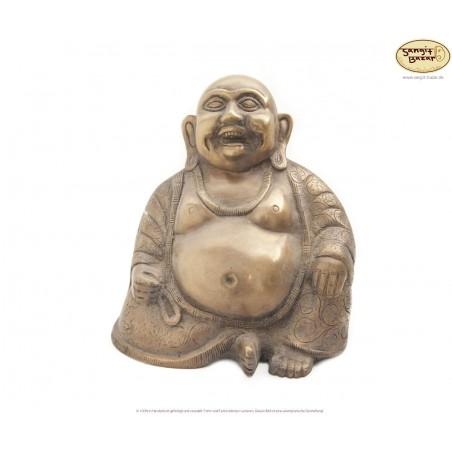 Lachender Buddha aus Messing 20cm, aus Nepal