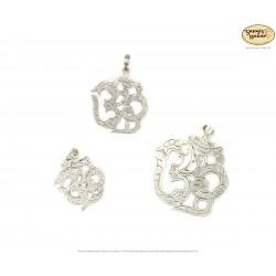 OHM-Silberanhänger aus Nepal, verschiedene Größen