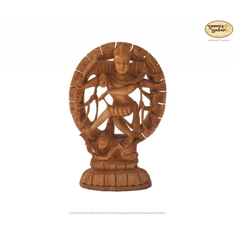 Shiva Statue aus Holz, 21cm - indische Handarbeit