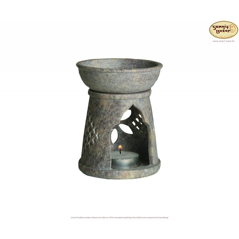 Duftlampen aus Speckstein, Handarbeit