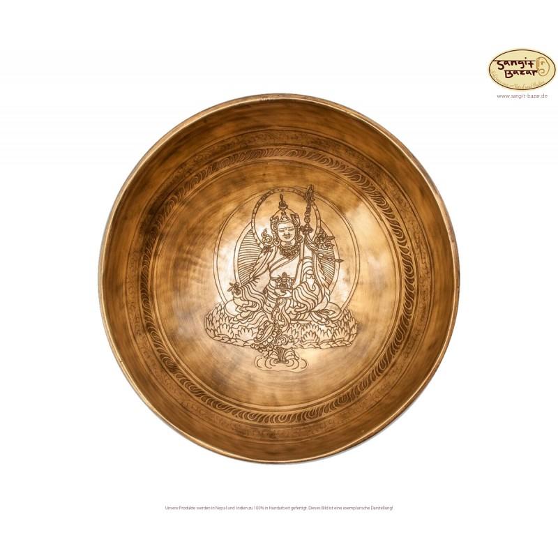 Klangschale PADMASAMBHAVBA, graviert aus Nepal und Indien