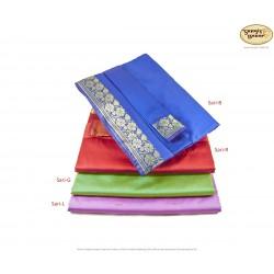 Echter Sari aus Indien, verschiedene Farben