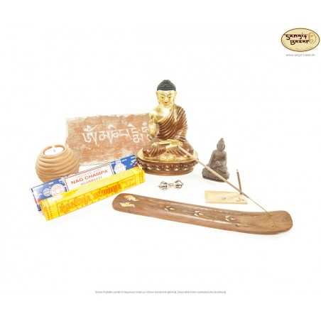Buddha Messing Statue im Set