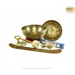 Klangschalen mit Vajradhar / Set