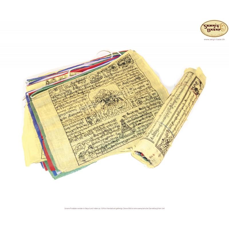 Tibetische Gebetsfahnen-Rolle 7m