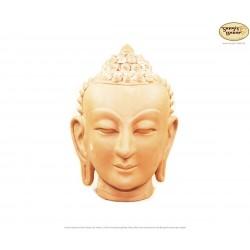 Mittelgroßer Ton-Buddhakopf, Buddha-Büste