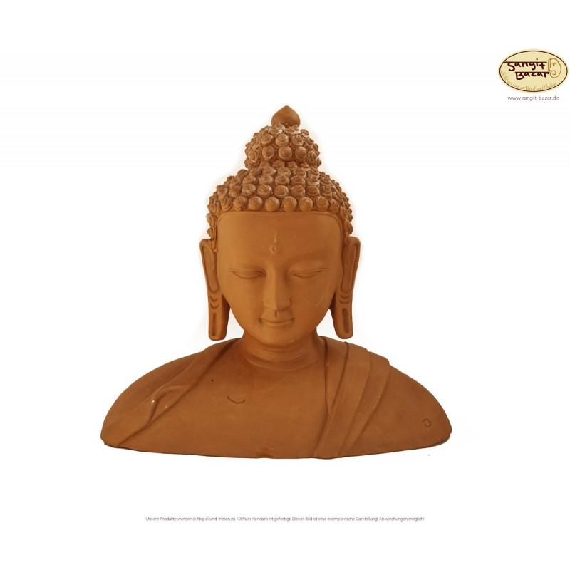 Ton-Buddhakopf, Buddha-Büste