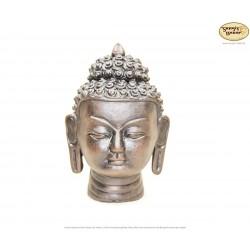 Kleiner Ton-Buddhakopf, Buddha-Büste