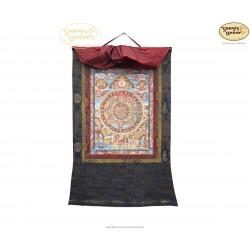 Thangka Buddha Mandala ca. 47cm x 57cm aus Nepal