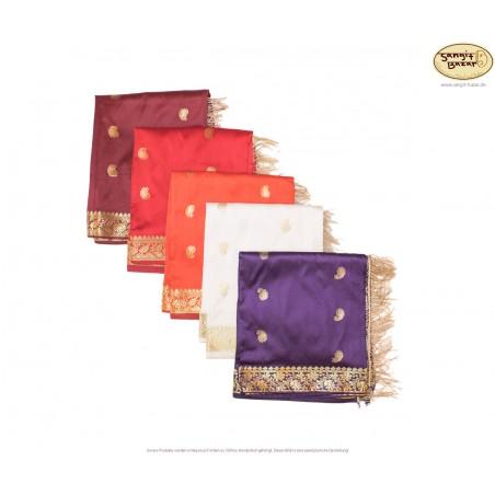 Tischdecke aus Indien, 2m², verschiedene Farben