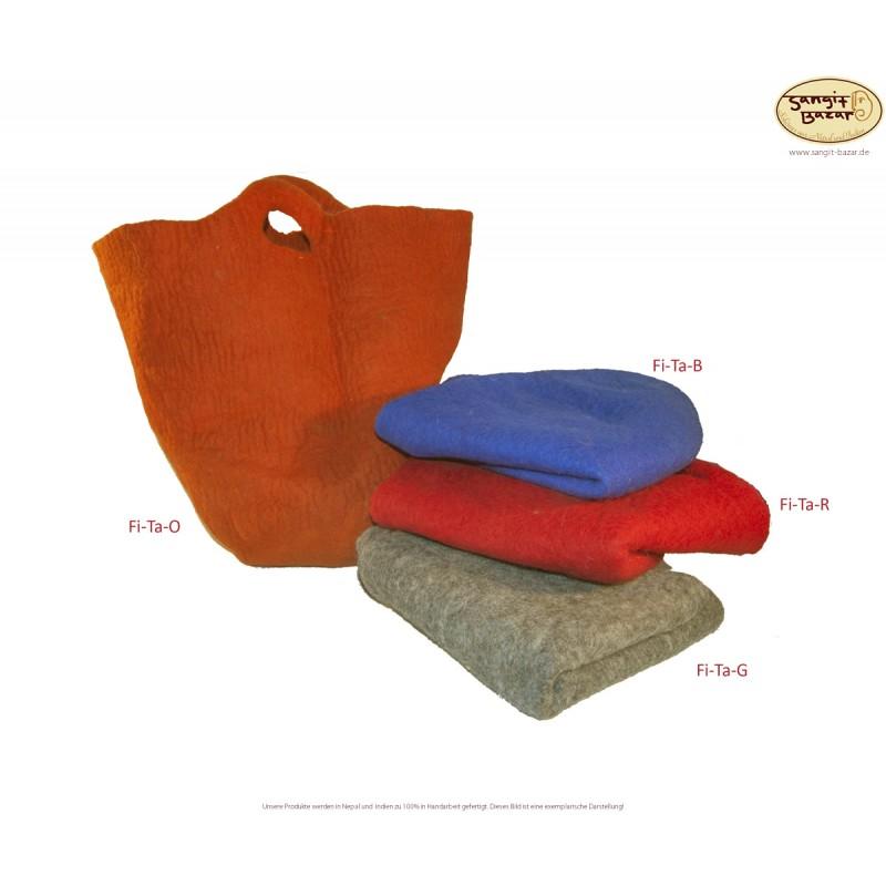Filztaschen aus Nepal, Handarbeit