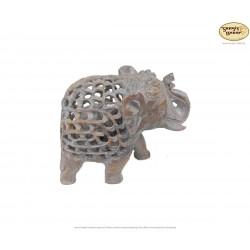 Speckstein Elefant im Elefant in verschiedenen Größen