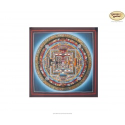 Thangka Kala Chakra ca. 30cm x 30cm aus Nepal by Madhu Chitrakar