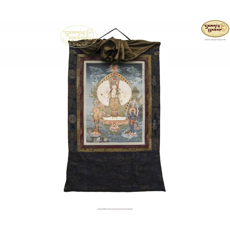 Thangka Lokeshwore ca. 42cm x 60cm aus Nepal by Madhu Chitrakar