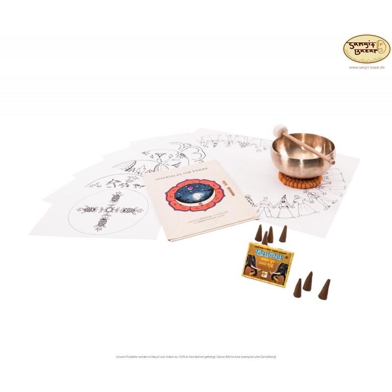 Meditation-Set -Februar-Spezial- mit Original Peter-Hess O1-Kleine Herzschale